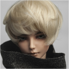 1/3 Fluffy short curl wig(light golden)