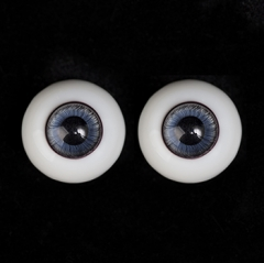 16mm blue&black glass eyeballs