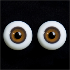 18MM Brown Yellow Stripped Eyes