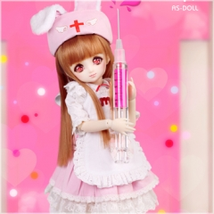 1/6 bjd baby Nurse dress with rabbit ear