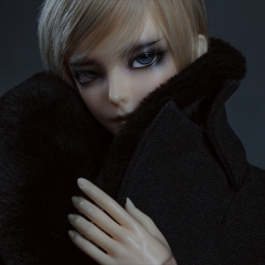 70+ Bjd Male England Style Fur Collar Coat