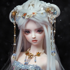 1/3 Youth Ancient White Wig -- Light Snow