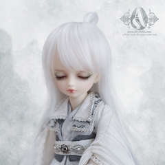 1/6white long hair for Huaxi