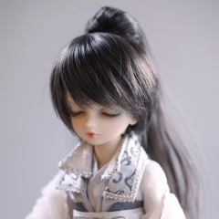 1/6 grey and black ponytail (removable tail)