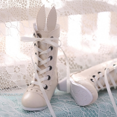 1/4 BJD Rabbit Ear Shoes/White