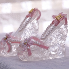 1/3 Older girl Hua Rong hollowed-out crystal high heel