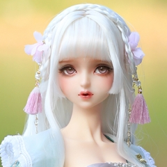 1/3 Hua Rong white ancient style wig