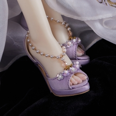 1/3 White Doe high heel shoes